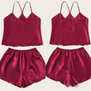 Satin Silk Camisole Pajama Set